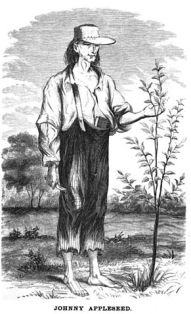 1862 English Drawing of Johnny Appleseed