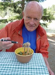Paul enjoying his Miso Soup at Otter Creek (c) jfhaugen