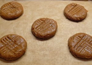 peanut butter cookies ready to be baked (c) jfhaugen