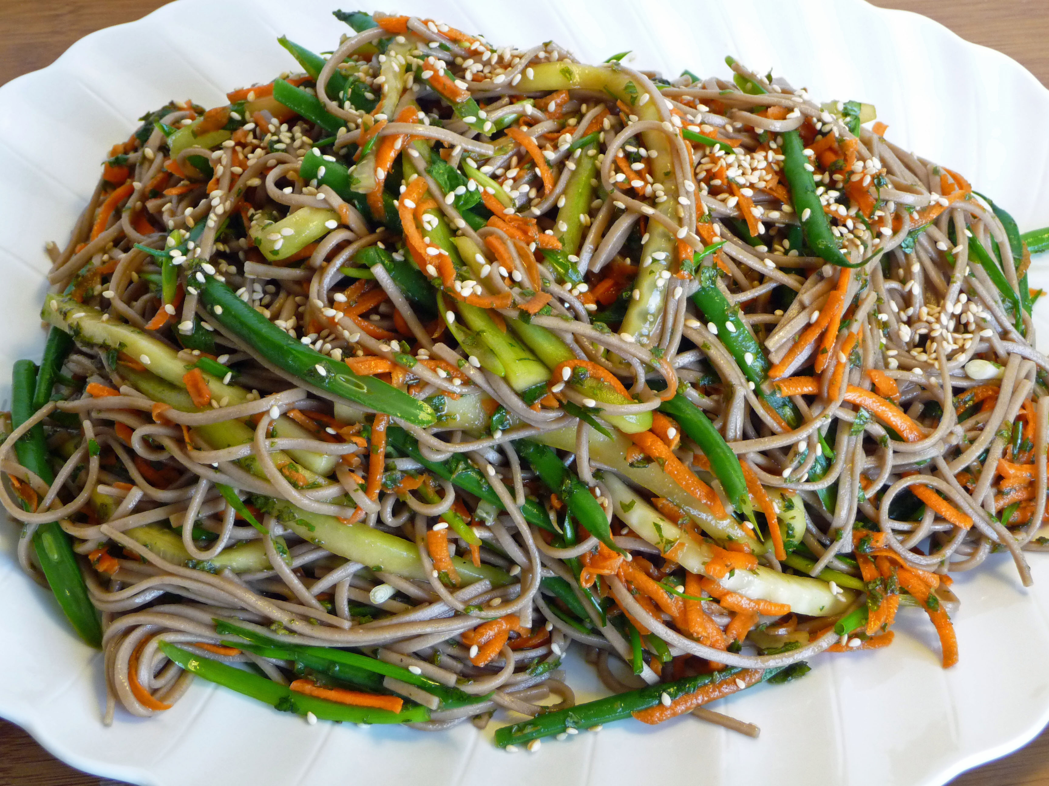 Soba Salad with Mint & Scallion (c) jfhaugen