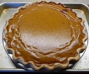 Pumpkin Pie fresh from the oven (c) jfhaugen