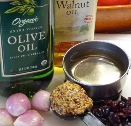 Shallot-Mustard Vinaigrette Ingredients (c) jfhaugen