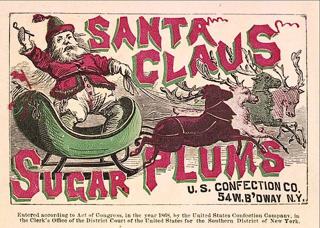 Santa Claus Sugar Plums in the public domain