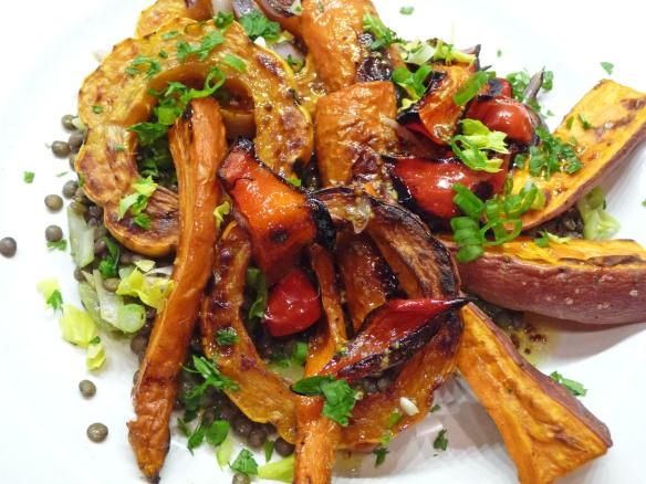 Roasted Vegetable and Lentil Salad (c) jfhaugen