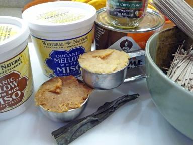 Miso, Curry Paste, Tahini, Soba, Kombu (c) jfhaugen