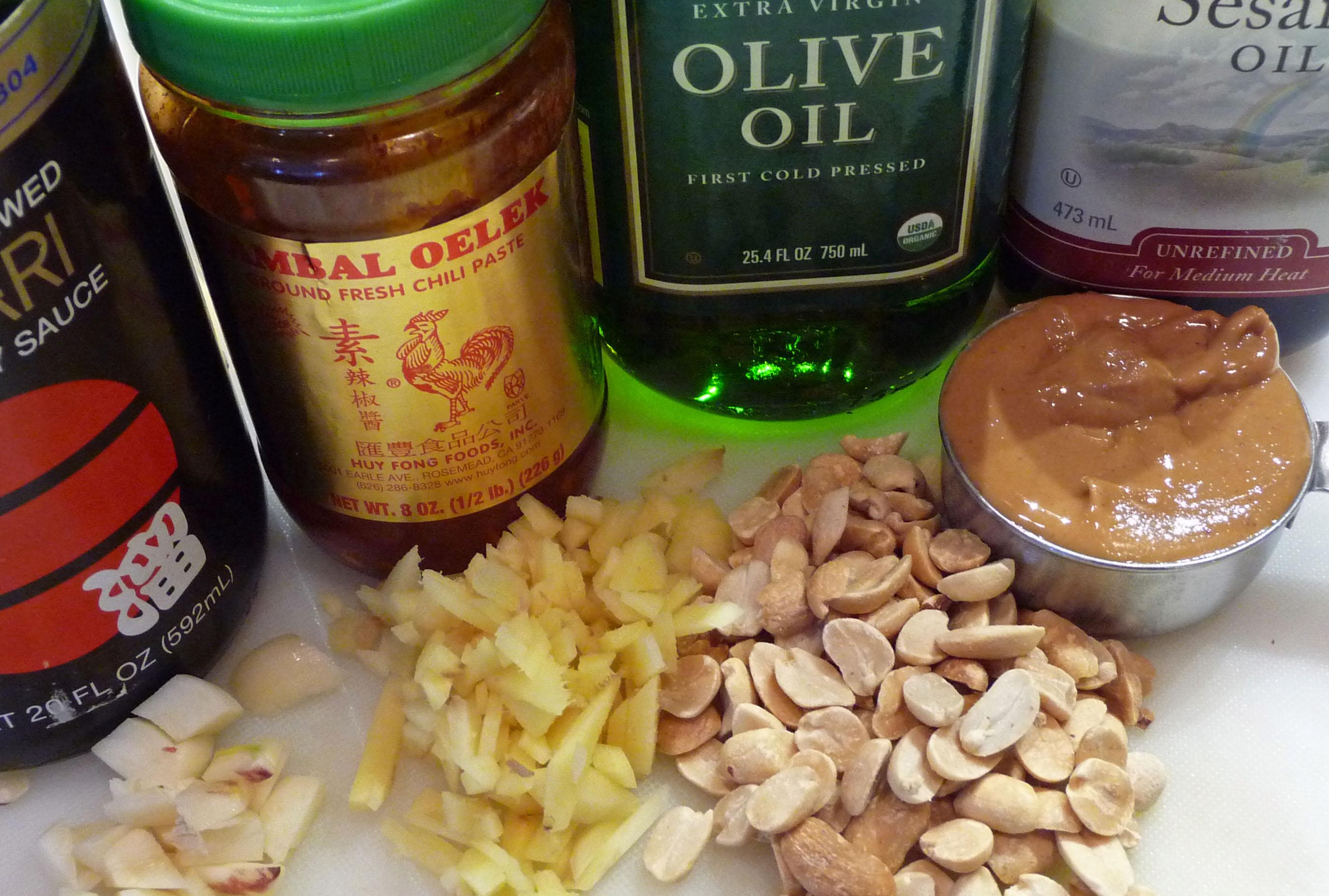 Spicy Peanut Sauce Ingredients (c) jfhaugen