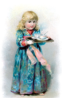 Victorian Girl serving soup (Dover Food & Wine)